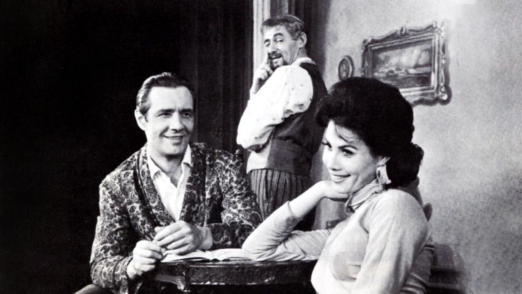 Cesare Diepi, David Opatoshu, and Michele Lee in Bravo Giovanni