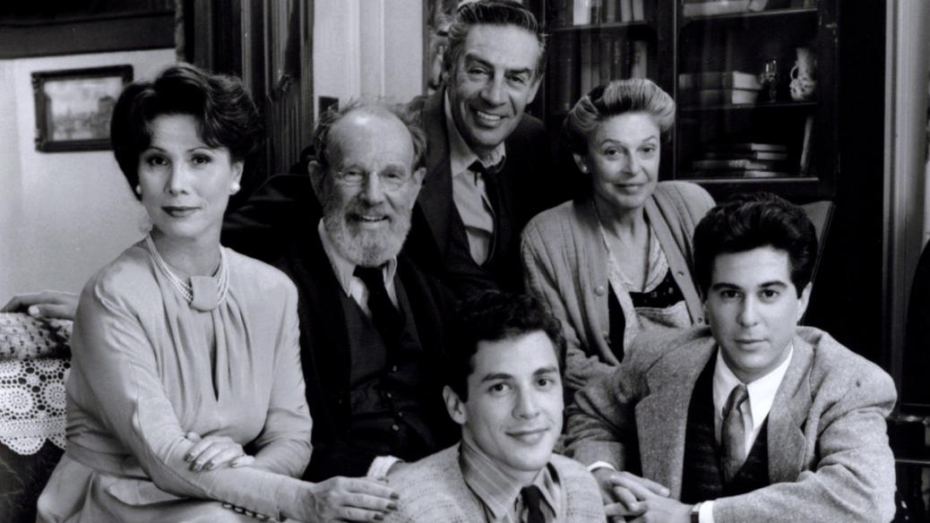 Michele Lee, Anne Bancroft, Hume Cronyn, Corey Parker, Jonathan Silverman, Jerry Orbach in Neil Simons Broadway Bound